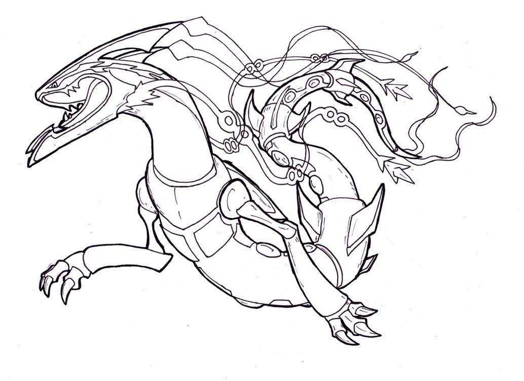 - Legendary Rayquaza Pokemon Coloring Pages - Free Pokemon Coloring Pages