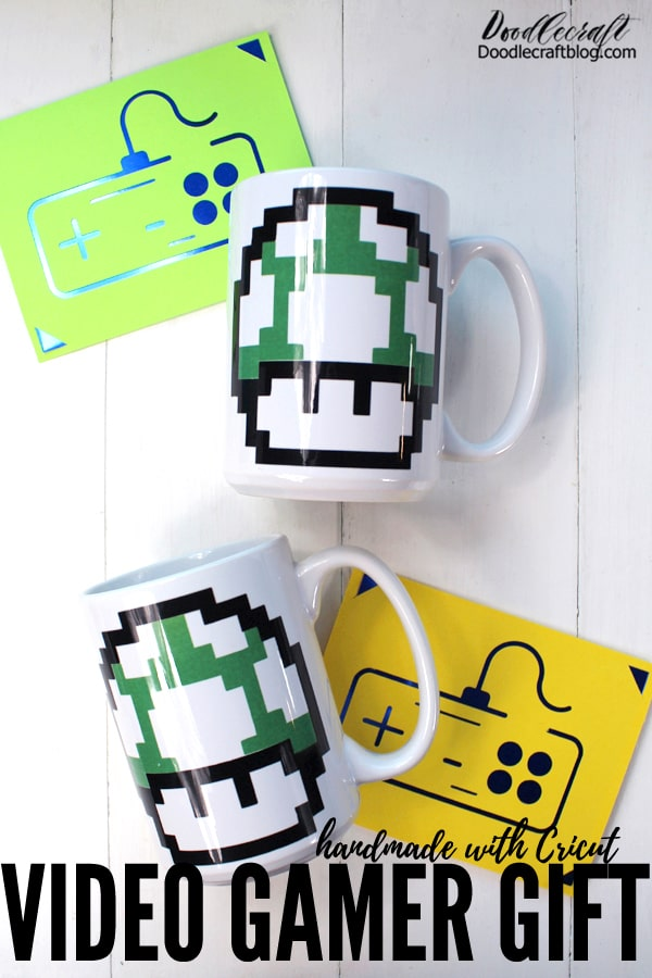 Whether a hardcore video gamer or not, these will make great gifts for anyone that grew up with a Nintendo! Great handmade gifts for dad!