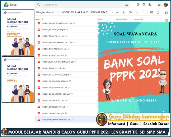 MODUL BELAJAR MANDIRI CALON GURU PPPK 2021 LENGKAP! TK, SD, SMP, SMA