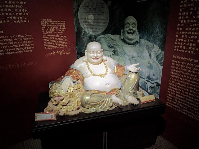 a Buddha sculpure