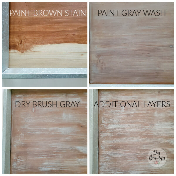 changing wood color with paint