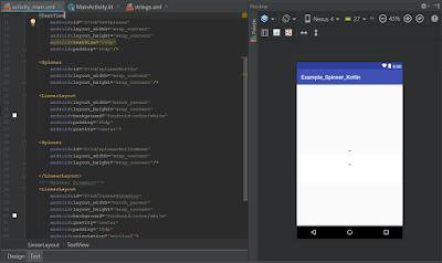 Android Studio - Spinner Kotlin