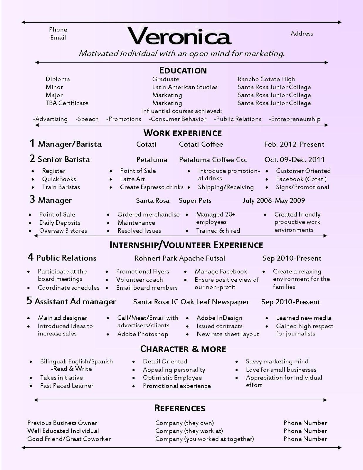 Show Me How To Write A Resume Resume Ideas