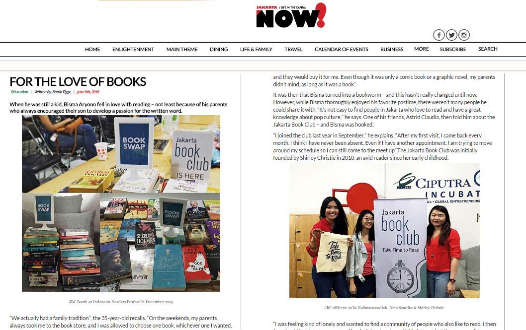 Jakarta Book Club on NOW Jakarta (June 2016)