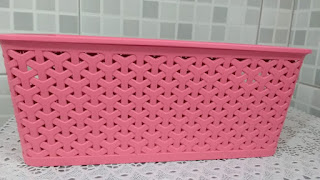 Caixa organizadora rosa pink
