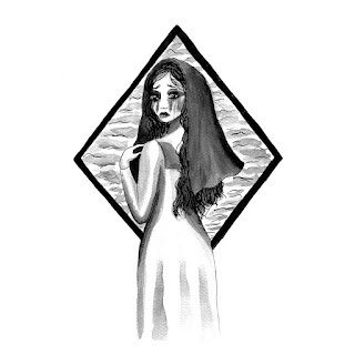 La Llorona ink drawing