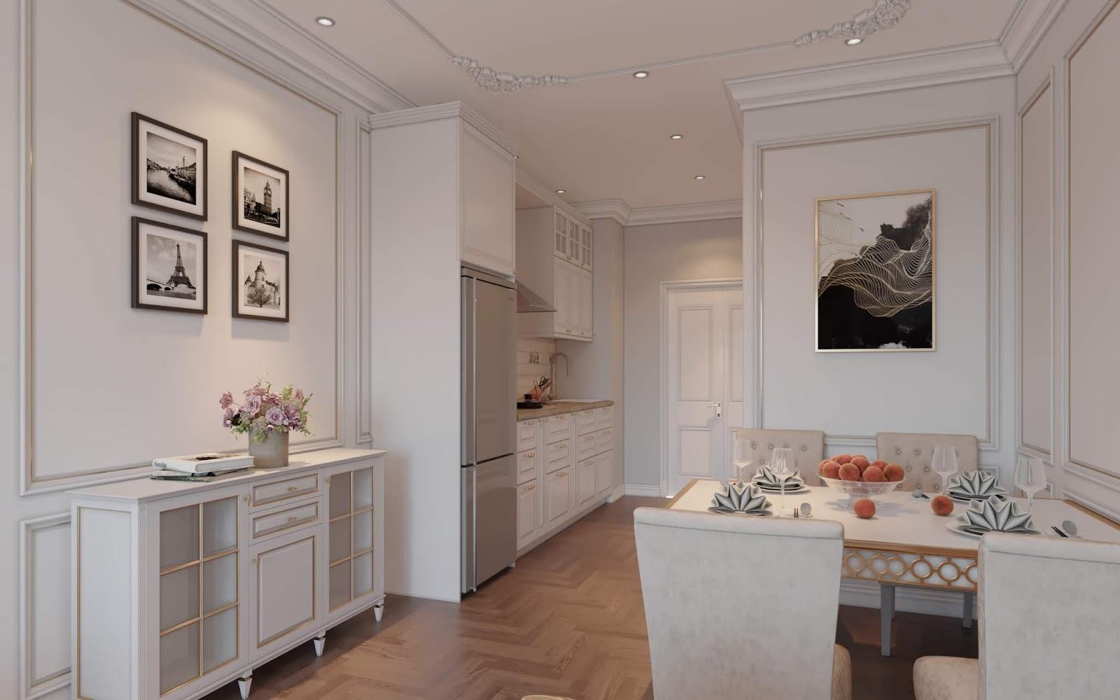 Không gian nội thất khu bếp
