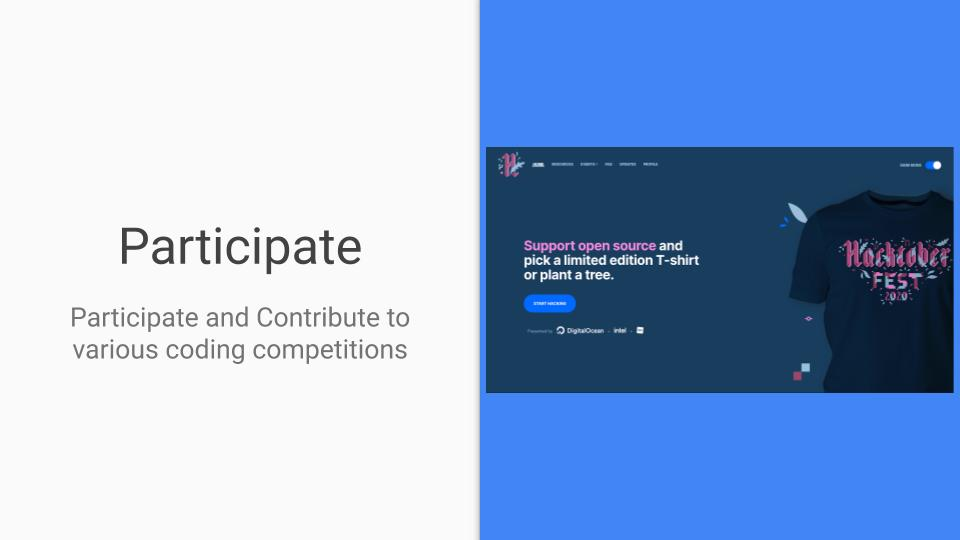 participate and contribute to open source
