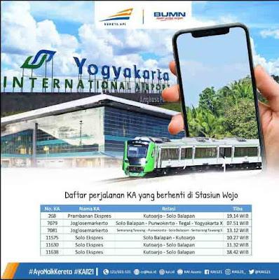 Jadwal KA Bandara Internasional Yogyakarta