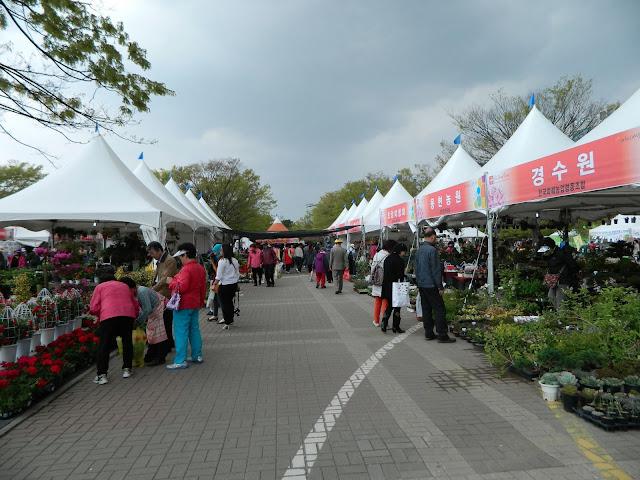 The farmer's market section of the fair