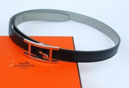 Auth Hermes Leather Bracelet Brown Silver Tone H284