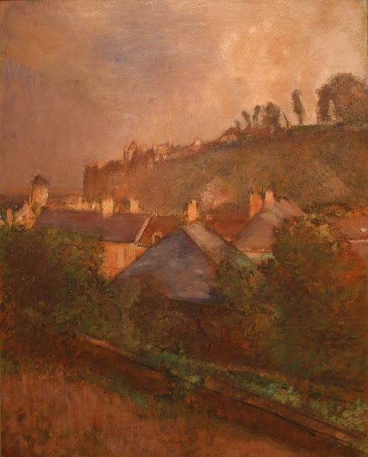 Эдгар Дега - Дома у подножия скалы (Сен-Валери-сюр-Сом) (ок.1895-1898)