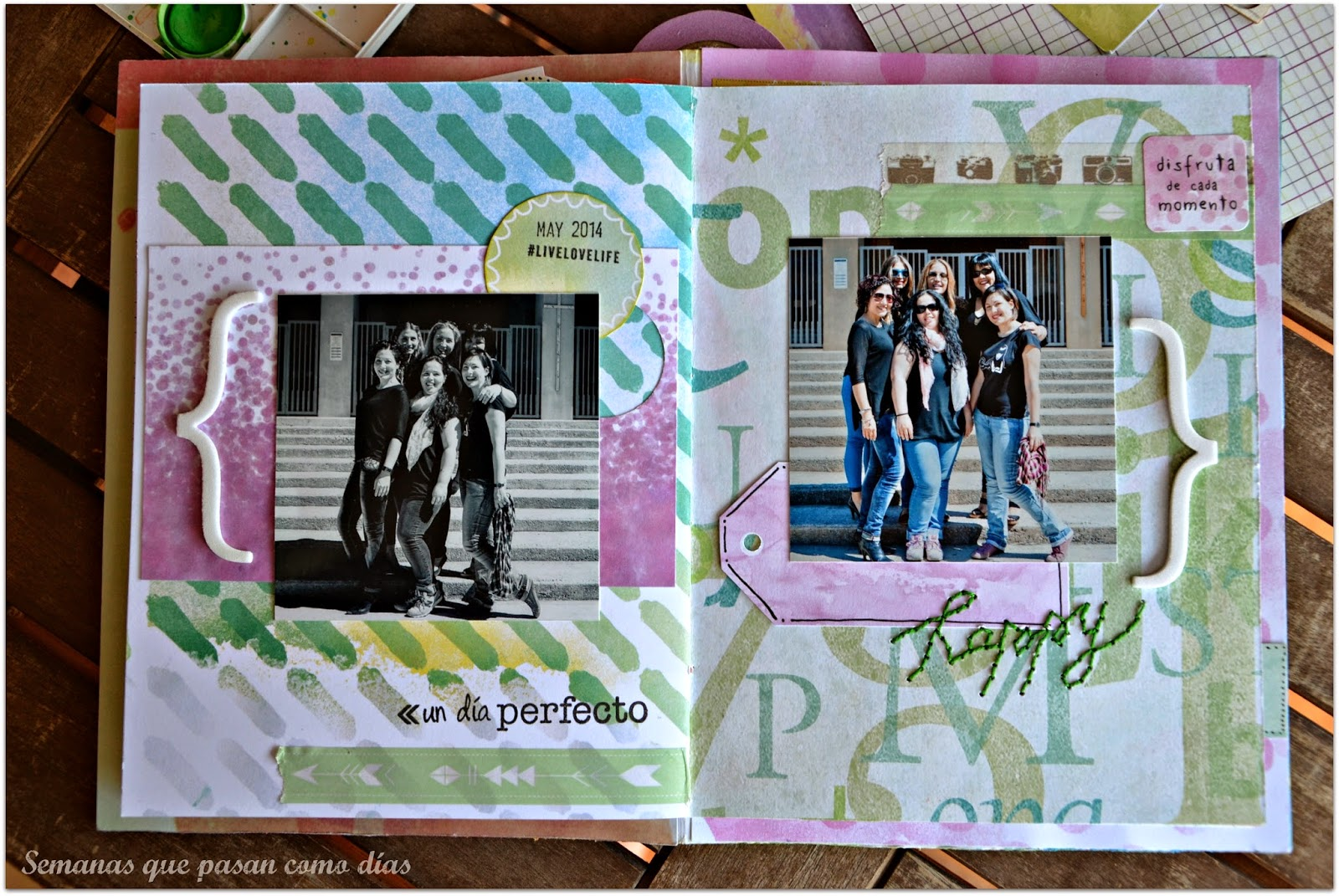 Decorar Album Scrap Semanas Que Pasan Como Días Friends Forever álbum De Scrap