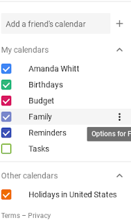 found in the sidebar of GCal