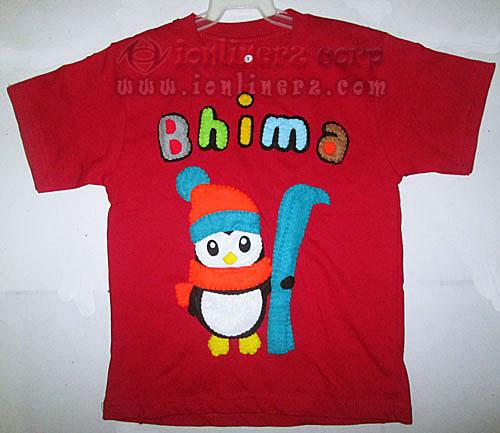 Kaos / Baju Flanel Anak Karakter Kartun Pinguin/Penguin