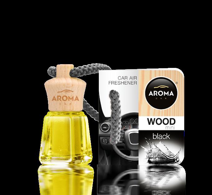 Tinh dầu treo ô tô Aroma Car Wood Mini 4ml - Black