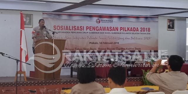 Wujudkan Pilkada Berintegritas, Panwaslu Tana Toraja Gelar Sosialisasi