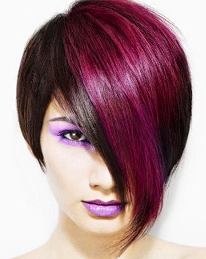 Hairstyles with red Highlights | short edgy hairstyles | VIP Hairstyles  See more http://www.womensandmenshairstyle.net/