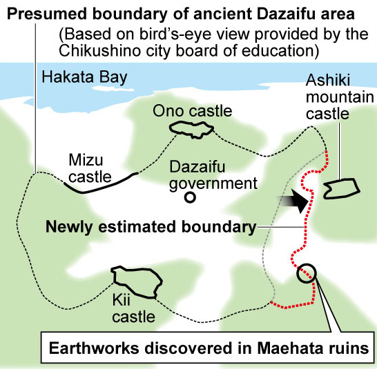 Ancient mound used for defense hints at walled city in Japan