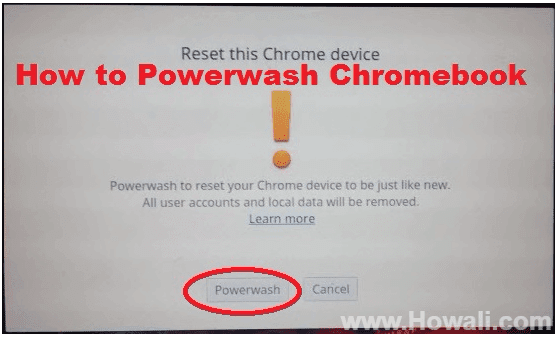 How to Powerwash Chromebook