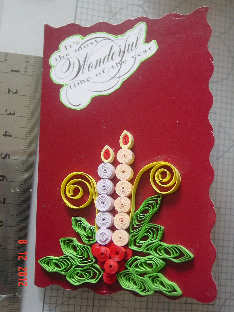 faith's quilling  christmas cards