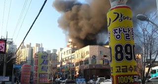 une quarantaine de morts dans l'incendie d'un hôpital