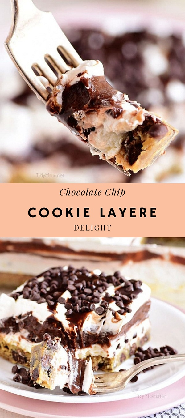 Chocolate Chip Cookie Layered Delight