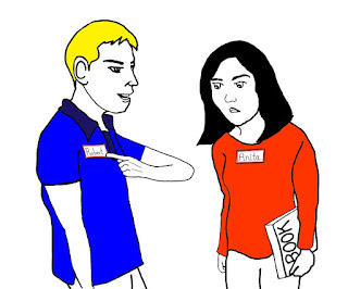 "EDUKASI BAHASA INGGRIS-Contoh percakapan perkenalan dalam bahasa inggris dan artinya, Hi hi guys, jumpa lagi bersama kami Kuliah Bahasa Inggris, setelah kemarin membahasa tentang ""Pembahasan Tenses (Bentuk Waktu)"", nah pada kesempatan kali ini saya akan berbagi ""Contoh percakapan dalam bahasa inggris dan artinya"", namun sebelum itu saya ingin menyapa dahulu, semoga reader tak ada yang berkurang sekala sesuatunya, amin. Saya pernah berkenalan dengan orang asing (Foreigner) di candi borobudur, waktu itu saya masih belajar bahasa inggris di pare-kediri. memang tujuan kami ke borobudur adalah untuk hunting foreighner, ya untuk bercakap-cakap aja, karena ini ujian dari lembaga pendidikan kami. jika saya aktif berkomunikasi dengannya maka saya akan lulus dan mendapat nilai yang memuaskan. Sesampainya di Candi Borobudur kami langsung hunting orang asing itu untuk diajak kenalan dan ngobrol-ngobrol, namun kata tutor ku jika sedang sibuk sebaiknya jangan di ganggu/ diajak berkenlan. Ok, itu saja mungkin ceritaku waktu hunting orang asingnya, hehe....maf melebar kemana-mana. kita kembali ke ""Contoh percakapan perkenalan  dalam bahasa inggris dan artinya"".  Baiklah, berikut Contoh Percakapan perkenalan dalam bahasa inggrisnya    A : Hi...how do you do?  B : Hi, l am fine, thanks, how do you do too?  A : l am fine, thanks. Btw, What is your name?  B : my name is B, and you?  A : that's a good name, my name is A  B : l don't thinks so, wow your name is good.  A : thanks  B : You are welcome  A : Btw Where do you study and what class are u?  B : l study in SMAN 5 Djogdjakarta and l Three class, and how about you, A?  A : l study in SMAN 1 Banadung, l am still sit in the class 2.  B : A, btw what lesson do like?  A : l am very like english lesson, and You?  B : me too, because english is international language, isn't it?  A ; you are true, B....that's why your english very good.  B : thanks, your english too very good.  A : B, what is your idea?  B : my idea is become a docter and"