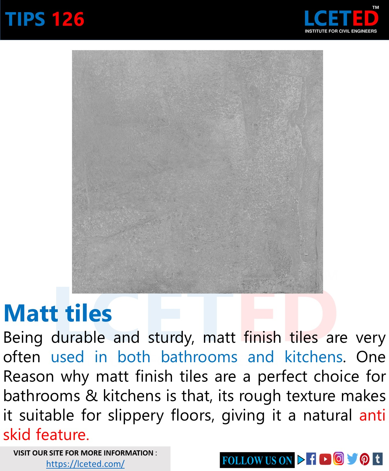 KNOW THE DIFFERENCE BETWEEN GLOSSY TILES OR SATIN MATTE TILES?