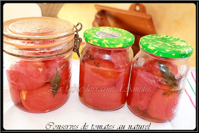 La table lorraine d 39 amelie conserves de tomates entieres - Duree conservation soupe maison ...