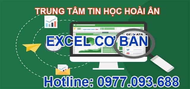 Nội dung hoc Excel cơ bản