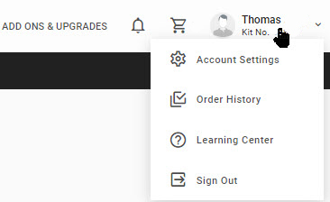 mtDNA account settings