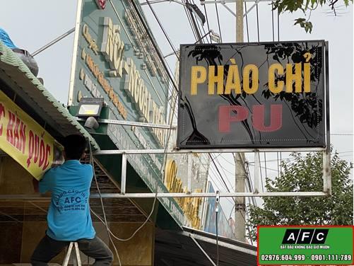 Thi công biển quảng cáo Led vẫy Phú Quốc