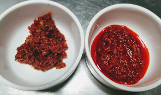 Schezwan sauce and Red Chilly Paste for schezwan chilli paneer recipe