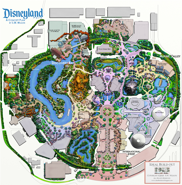 Fan Map ft Discovery Bay instead of Star Wars - MiceChat Disneyland Anaheim Map on