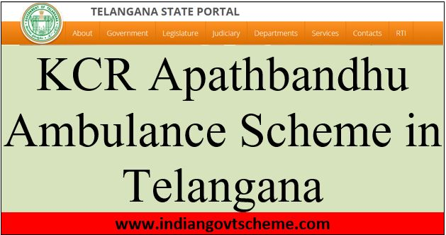 kcr+apathbandhu+ambulance+scheme