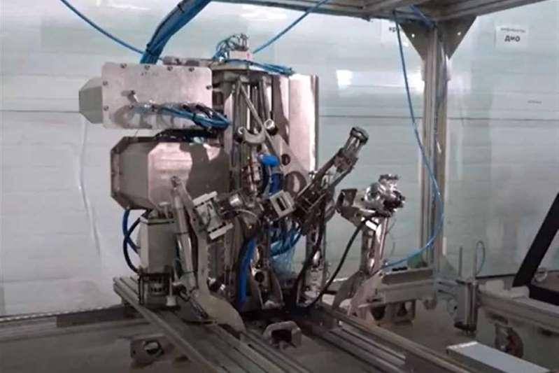 A unique robot test at the Leningrad nuclear plant