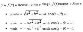 Nilai Maksimum dan Minimum Fungsi f(x) = a Cos x + b Sin x