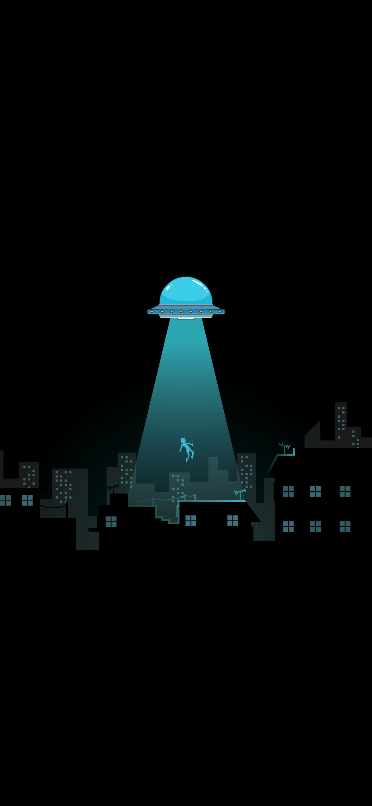ufo abduction cool amoled black wallpaper 4k