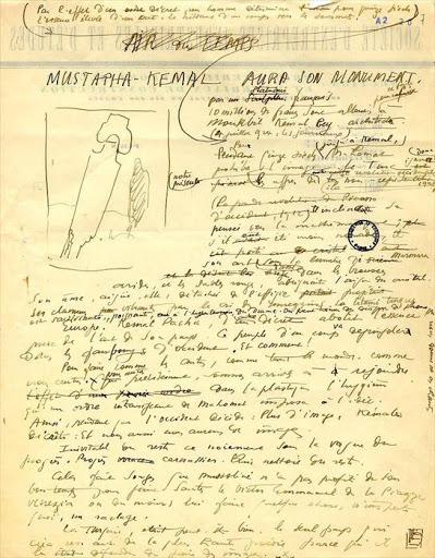 Foto de manuscrito de Le corbusire