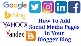 How To Add Social Media Pages In Your Blogger Blog | Advanced SEO Setting