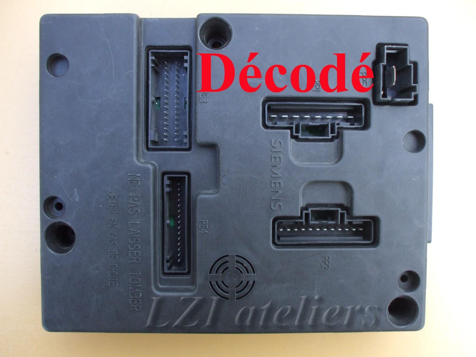 Calculateur Clio 2 calculateur moteur renault megane ii clio iii 1 5dci simens s122326114 a