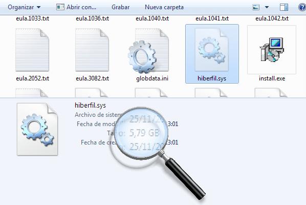 Hiberfil.sys en windows 7