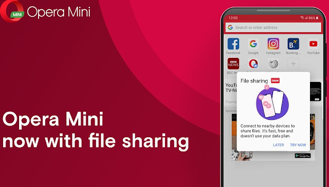 Opera Mini Browser Introduces Offline File Sharing Feature