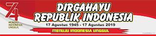 Contoh Sepanduk Dirgahayu Republik Indonesia Ke 74