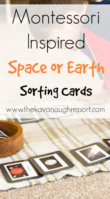 Children love studying outer space! With these Montessori inspired space or Earth sorting cards, children can start to spot the differences between life on Earth and outer space.