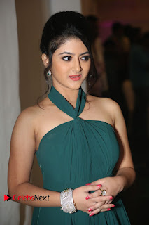 Actress Shriya Sharma Pictures in Long Dress at Nirmala Convent Audio Launch 0024
