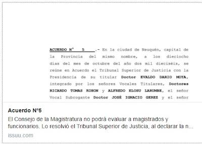 El Consejo de la Magistratura