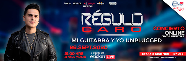 """Régulo Caro hará el concierto """"Mi Guitarra Y Yo Unplugged"""" vía streaming"""