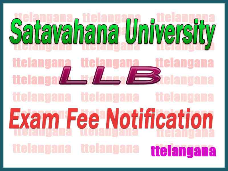 Satavahana University LLB Exam Fee Notification